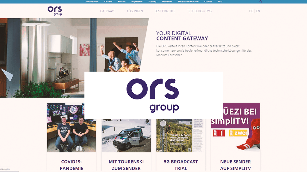 Logo ORS Group mit Homepage